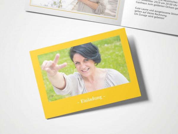 Einladungskarten 50. Geburtstag Elegant