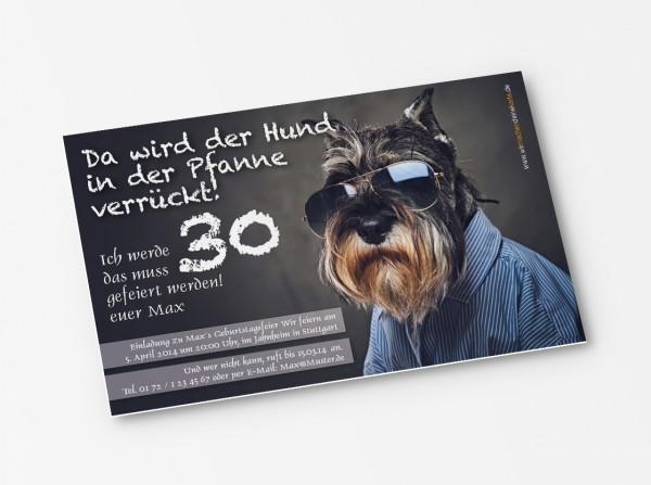 Geburtstag Einladungskarten - 30. Geburtstag Schnauzer