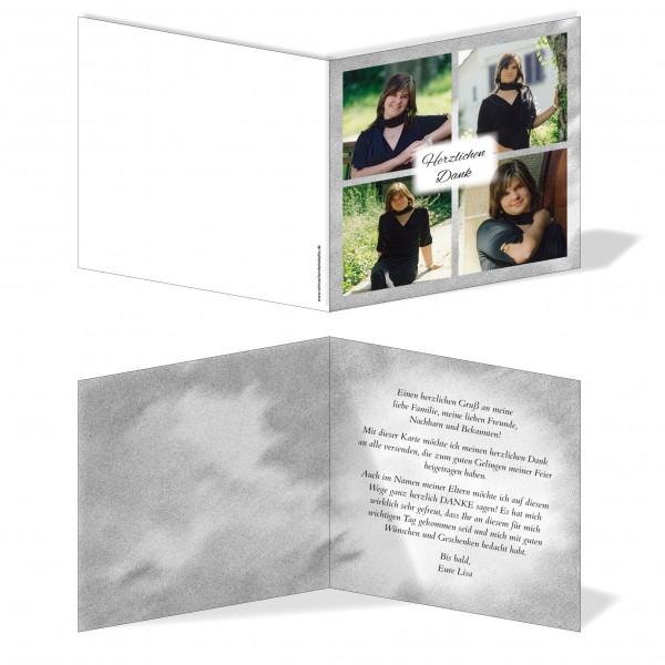 Dankeskarte Bilder Quadrat Grau