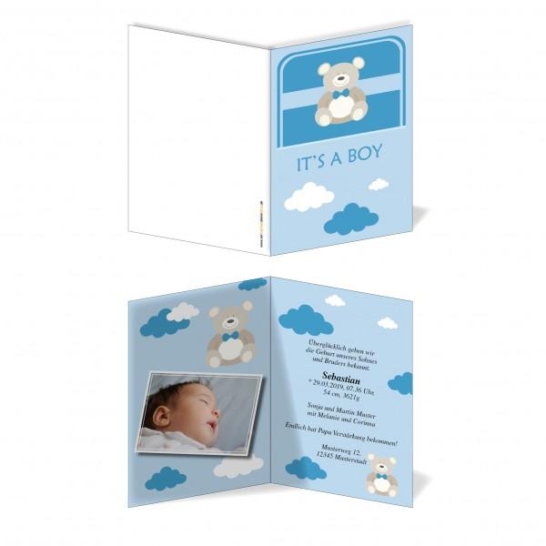 Geburtskarten Babykarten individuell - Junge Baby Boy