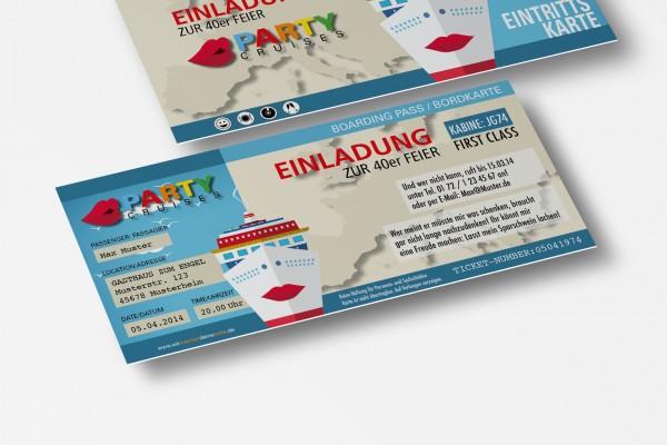 Einladung Einladungskarte lustig Geburtstag Kreuzfahrt